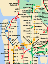 Subway Map Of Bronx.New York Body N Soul Map